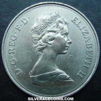 ND (1972) Elizabeth II British 25 New Pence (Silver Wedding)