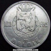 1948 Belgian Silver 100 Francs (Dutch, coin alignment)