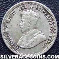 1926 George V Straits Settlements Silver 5 Cents