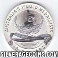 1994 Proof Australian 10 Dollars Silver Matte Proof (Sarah Durack)