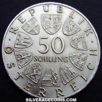 ND (1968) Austrian Silver 50 Schillings (50th Anniversary of the Republic)