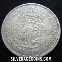 1925 George V South African Silver Two and a Half Shillings