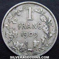1904 Leopold II Belgian Silver Franc (French)