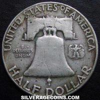 1950 United States Franklin Silver Half Dollar