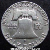 1952 United States Franklin Silver Half Dollar