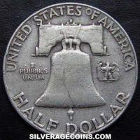 1953 D United States Franklin Silver Half Dollar
