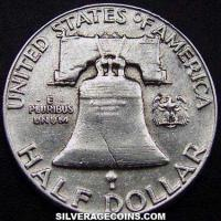 1962 Type 1 rev United States Franklin Silver Half Dollar