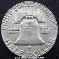 1963 Type 1 rev United States Franklin Silver Half Dollar