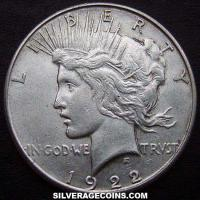 1922 S United States Peace Silver Dollar