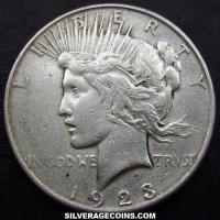 1923 S United States Peace Silver Dollar