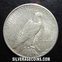 1925 S United States Peace Silver Dollar