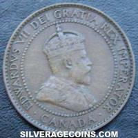 1908 Edward VII Canadian Bronze Cent
