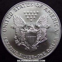 1991 United States Dollar 1 Ounce Silver Eagle
