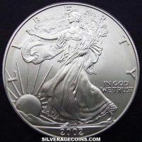 2002 United States Dollar 1 Ounce Silver Eagle