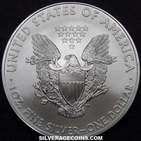"2008 United States 1 Ounce ""Silver Eagle"" Dollar"