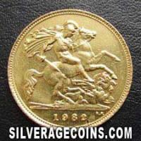 1982 Elizabeth II British Gold Half Sovereign