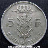 1949 Belgian 5 Francs (French, coin alignment)