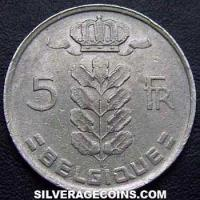 1975 Belgian 5 Francs (French, coin alignment)