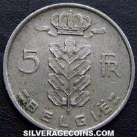 1949 Belgian 5 Francs (Dutch, coin alignment)