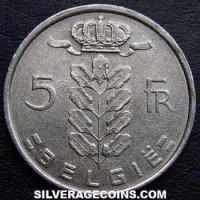 1976 Belgian 5 Francs (Dutch, coin alignment)