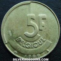 1988 Belgian 5 Francs (French)