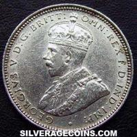 1913 George V British West Africa Silver Shilling