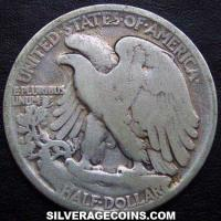 1918 United States Walking Liberty Silver Half Dollar