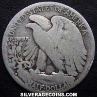 1935D United States Walking Liberty Silver Half Dollar