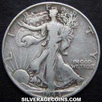 1944 United States Walking Liberty Silver Half Dollar
