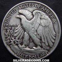 1945 United States Walking Liberty Silver Half Dollar