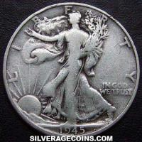 "1945 D United States ""Walking Liberty"" Silver Half Dollar"