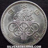 Yr.39/1964 Hirohito Japanese Silver 100 Yen (1964 Olympics)