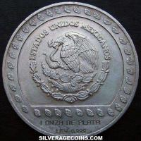1992 Mexican 100 Pesos Silver 1 Ounce (Eagle warrior)
