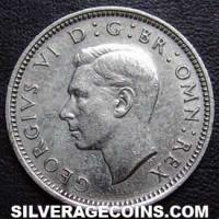 1941 George VI British Silver Sixpence