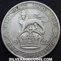 1922 George V British Silver Shilling (type 2)