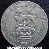 1923 George V British Silver Shilling (type 2)