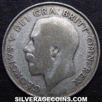 1925 George V British Silver Shilling (type 2)