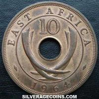 1964H East African Bronze 10 Cents