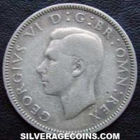 1937 George VI English Silver Shilling