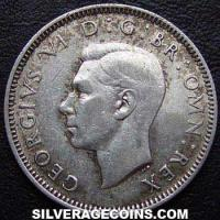 1942 George VI English Silver Shilling