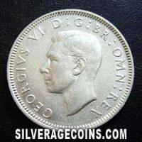 1946-1A George VI English Silver Shilling