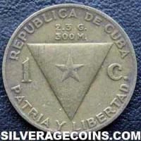 1953 Cuban Centavo (Centennial birth of Jose Marti)