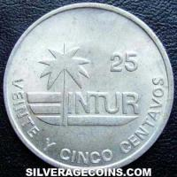 1989 Cuban 25 Centavos (Visitor's coinage)