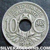 1924 10 French Cents