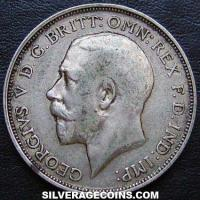 1911-1A George V British Silver Florin (2 Shillings)