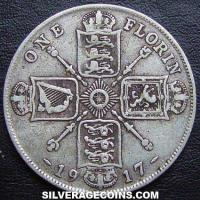 1917 George V British Silver Florin (2 Shillings)