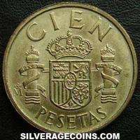 1988 lis up Juan Carlos I Spanish 100 Pesetas