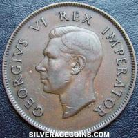 1937 George VI South African Bronze Penny