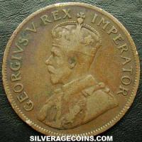 1924 George V South African Bronze Penny