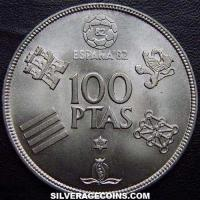1980 (80) Juan Carlos I Spanish 100 Pesetas ('82 World Cup)